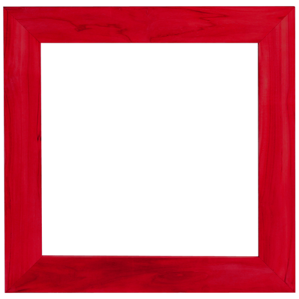 قاب قرمز ضخیم مربعی