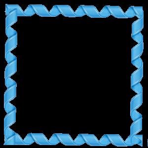 قاب آبی فانتزی مربع