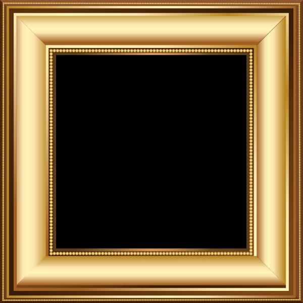 قاب قهوهای روشن مربع