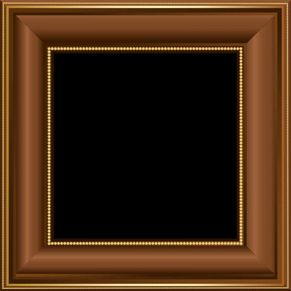 قاب قهوهای تیره مربع