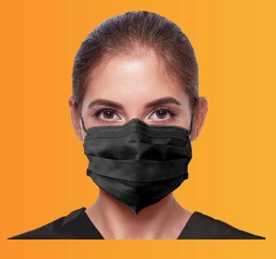 ماسک بهداشتی مشکی همراه با چهره
