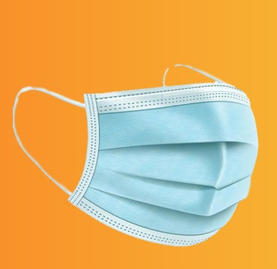 ماسک بهداشتی آبی رنگ