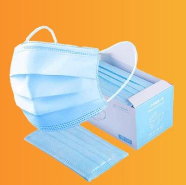 بسته ماسک پزشکی با رنگ آبی
