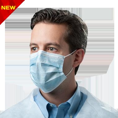ماسک پزشکی به همراه چهره مرد