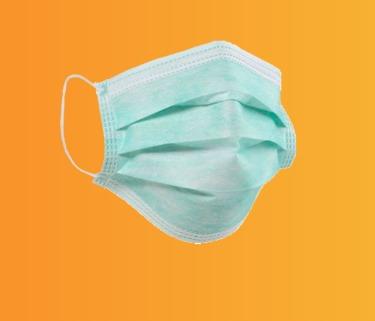 ماسک بهداشتی سبز رنگ