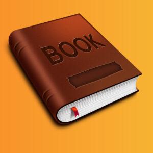کتاب با جلد قهوهای