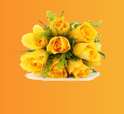 دسته گل زرد