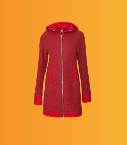 کت قرمز زنانه