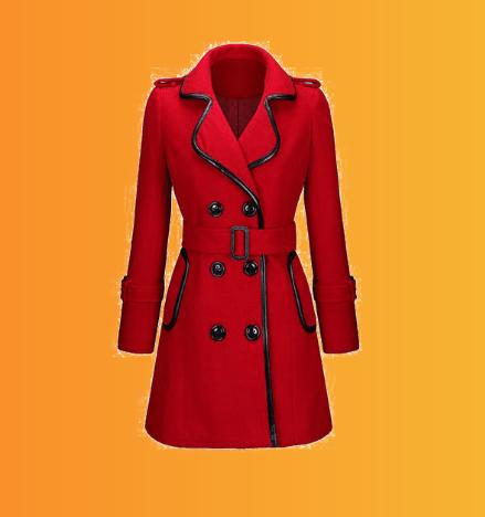 کت قرمز بلند زنانه
