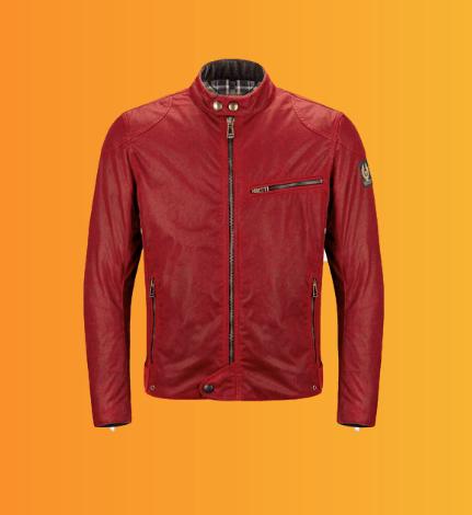 ژاکت کتان قرمز