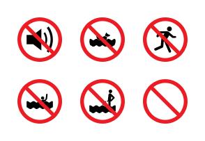 آیکون تابلوهای ممنوعیت